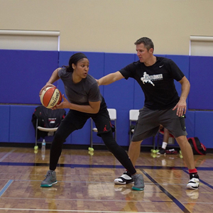 Maya Moore training with Ganon Baker Basketball