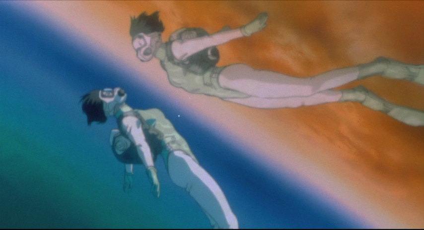Image result for ghost in the shell major in the water