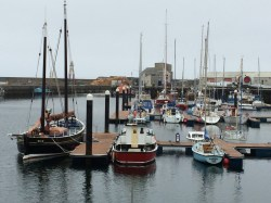 Wick Marina on an overcast Sunday