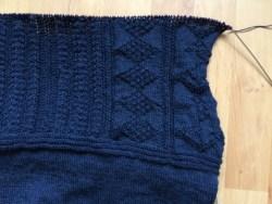 Detail of side pattern