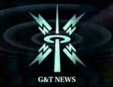 G&T News logo in the style of the 90s BBC 9 O'Clock News titles