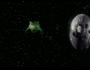 A flying disc warping next to Starbug