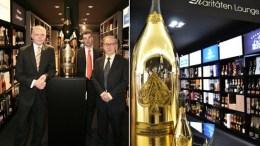 Die größte Champagnerflasche der Welt im Alsterhaus Hamburg