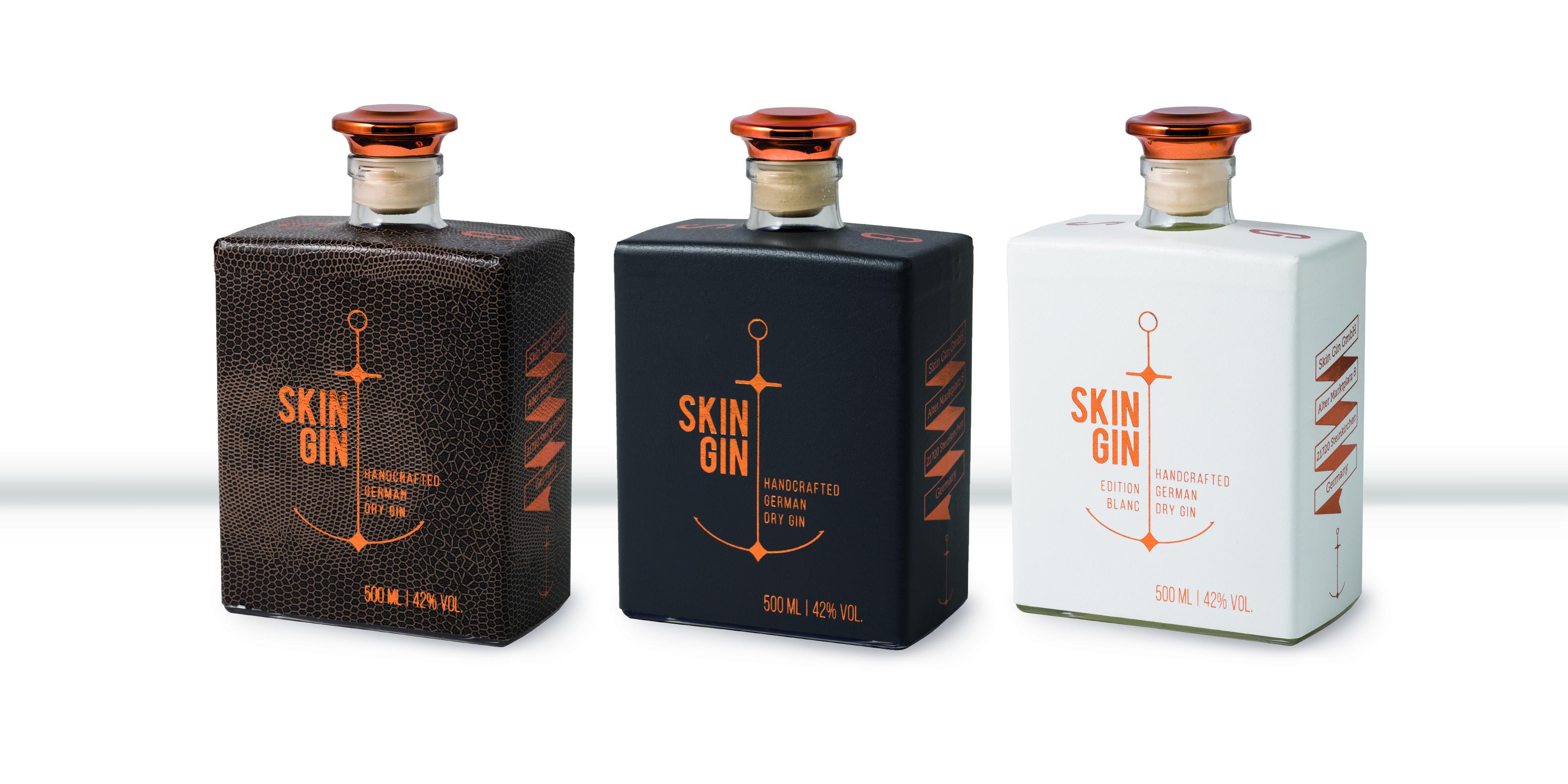 skin gin flaschen c skin gin ganz hamburg. Black Bedroom Furniture Sets. Home Design Ideas