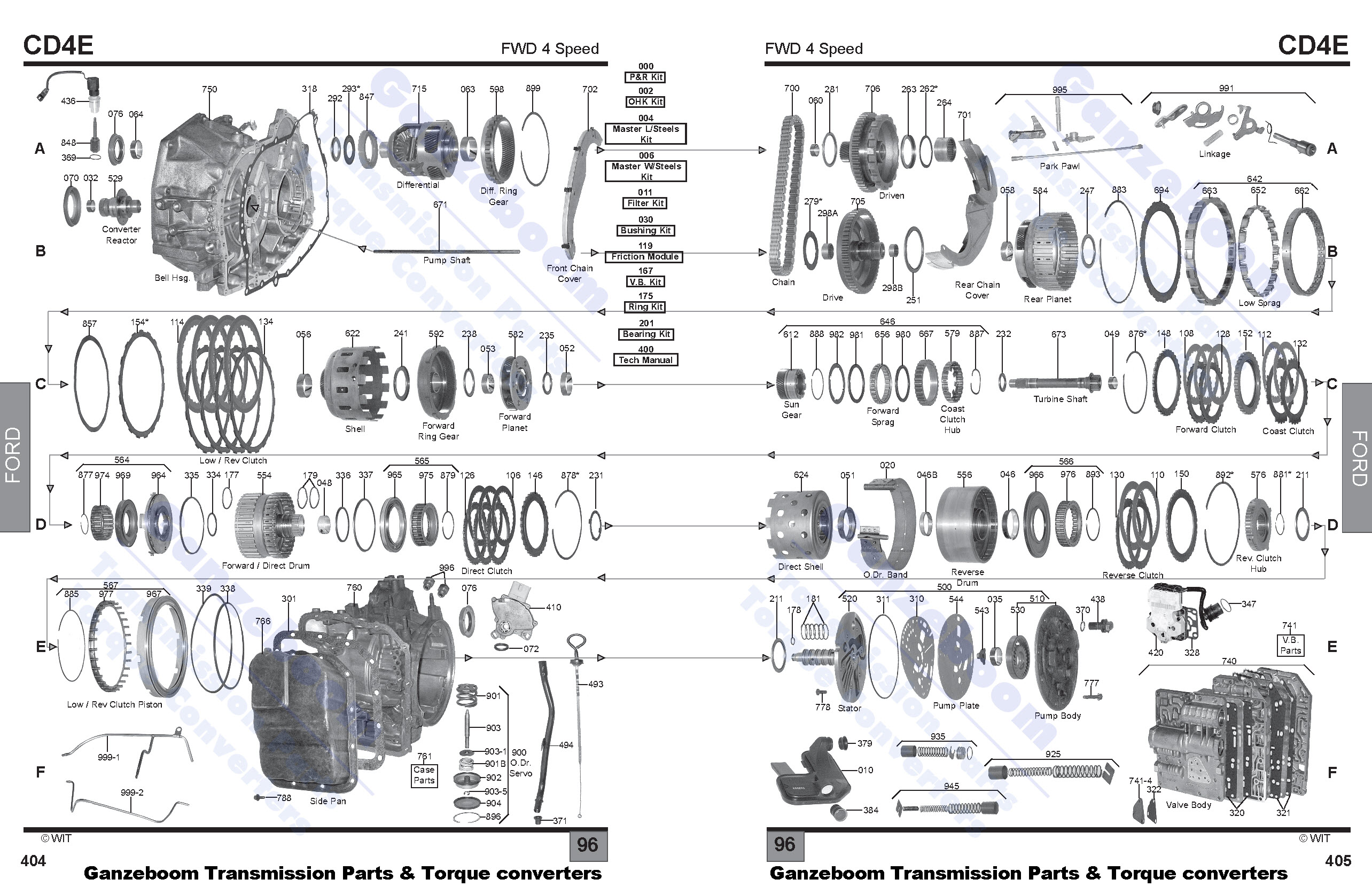 Ford 4r44e Transmission Diagram