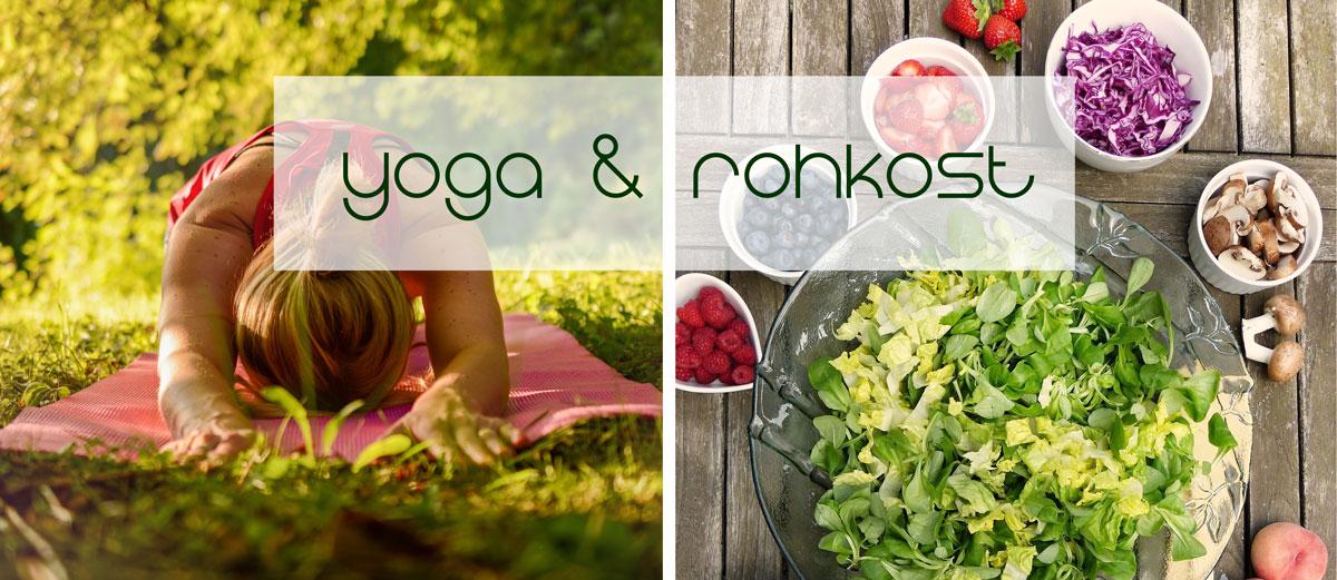 Yogaurlaub und Rohkost