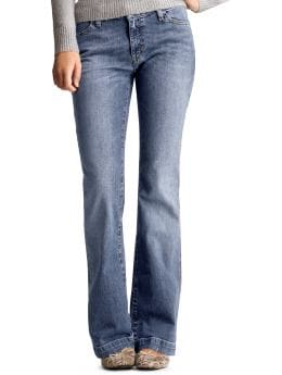 Women: Long and lean jeans - authentic tinted vintage