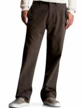 Men: Ordnance brushed herringbone casual khaki pants - chocolate