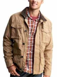 Men: Field jacket - tan