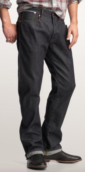 Gap Selvage Authentic Fit Jeans (Rigid Rinse)