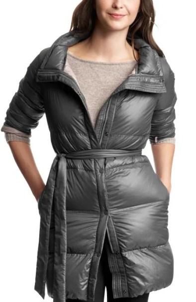 Gap Tall Coat Long belted puffer coat