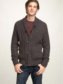 Gap Tweed Cable Shawl Tall Cardigan