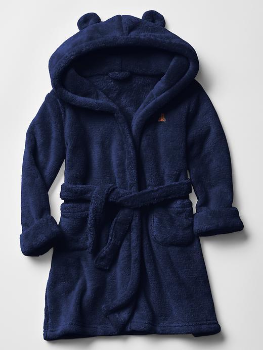 Gap Baby Fleece Bear Sleep Robe Size 2 YRS - navy