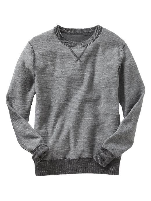 Gap Boys Slub Crewneck Sweater Size L - heather gray