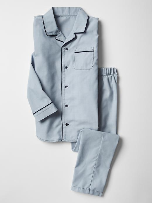 Gap Boys Classic Chambray PJ Set Size 14 - navy