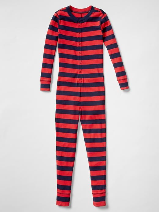 Gap Boys Stripe PJ One Piece Size 10 - pure red