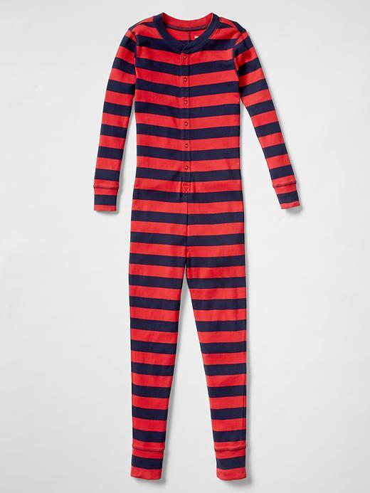 Gap Boys Stripe PJ One Piece Size 10 - pure red