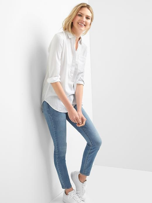 gap-white-boyfriend-popover-shirt