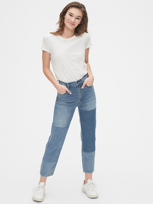 Image number 3 showing, High Rise Cheeky Straight Jeans with Secret Smoothing Pockets