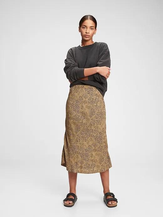 LENZING&#153 ECOVERO&#153 Print Midi Skirt