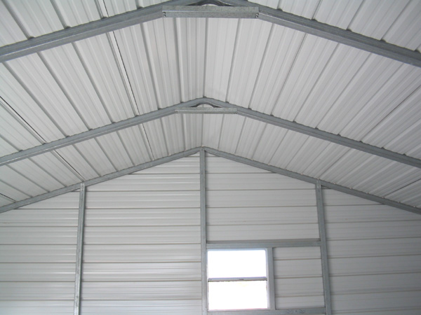 Steel Garage Interior 20x20 Metal Garage Inside