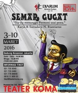 Foto: Poster 'Semar Gugat' (teater koma)
