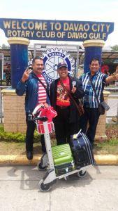 Foto: Reyog Ponorogo saat  tiba di Davao. (ist)