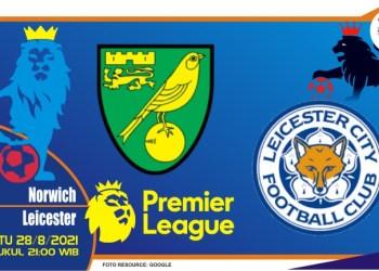 Prediksi Norwich vs Leicester - Liga Inggris 28 Agustus 2021