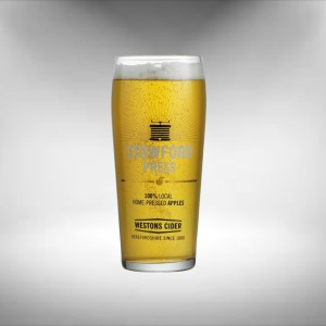 Westons Cider Stowford Press Glass