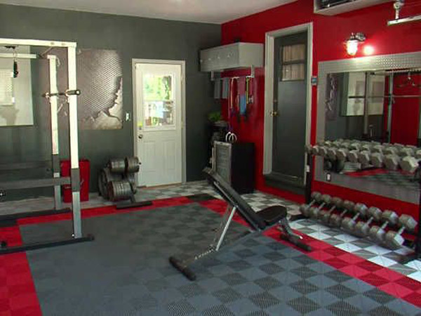 Cute Garage Gym Flooring Ideas Collections