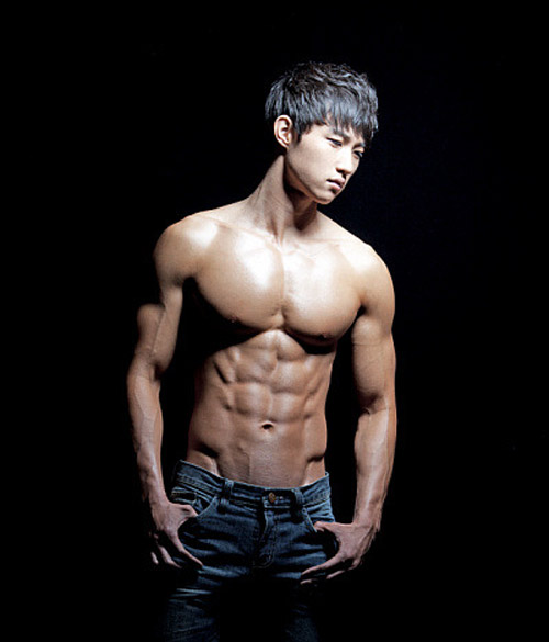Guy abs asian