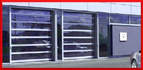 Glazed industrial doors
