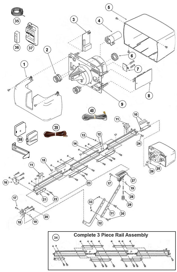 Genie AC Screw Drive Replacement Parts Guide