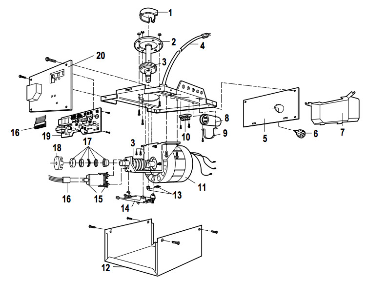 LiftMaster 1345, 1355 Garage Door Opener Parts