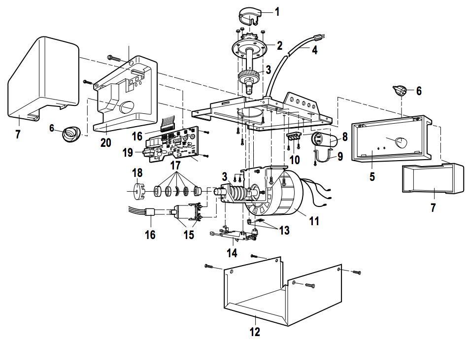 LiftMaster 1265 Garage Door Opener Parts