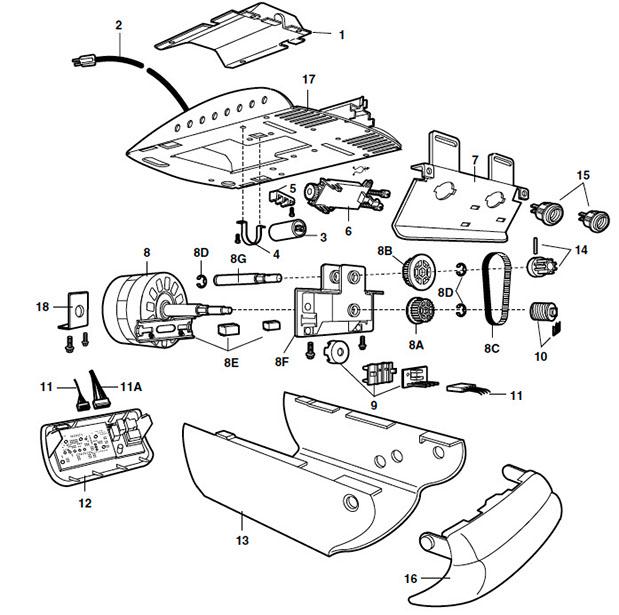 Liftmaster 2110 2220 Garage Door Opener Parts Manual Guide