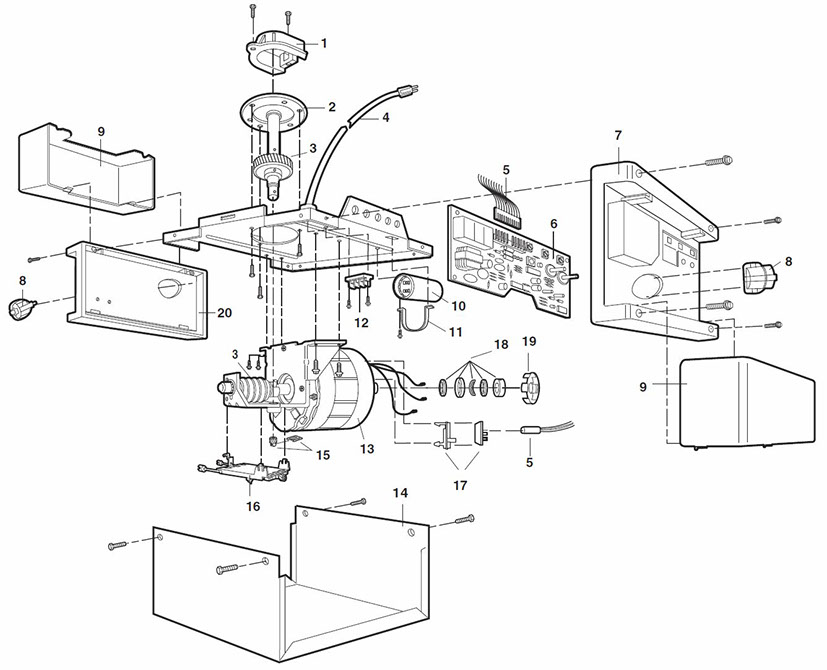 LiftMaster 1280R Garage Door Opener Parts Guide