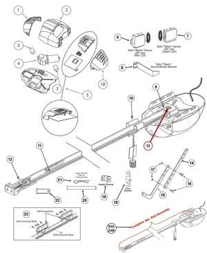 Genie 1022, 1024, 1042 Garage Door Opener Parts