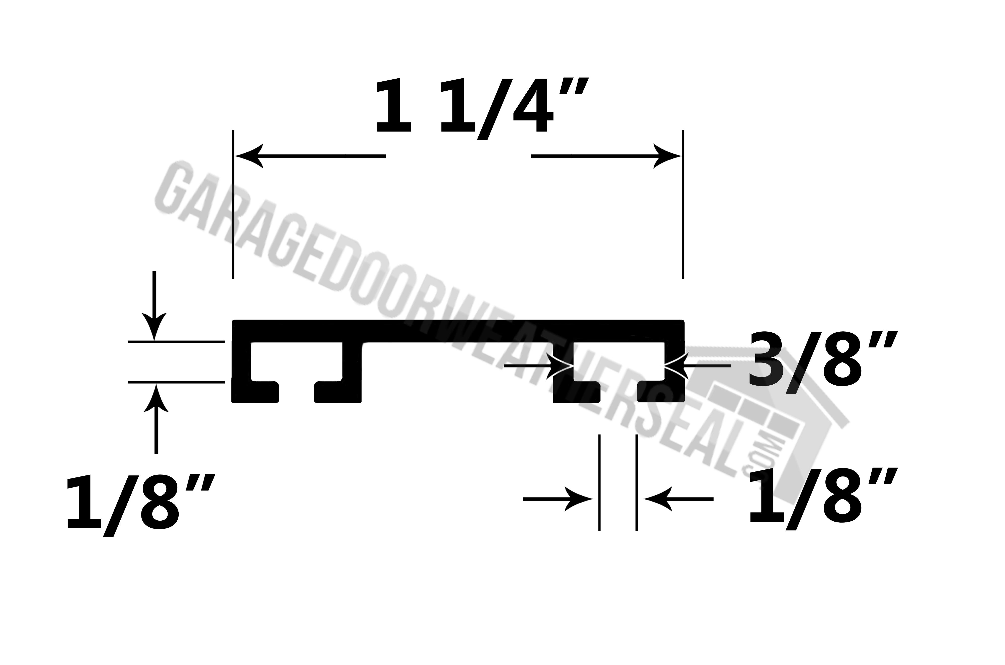 Garage Door Retainer Flat 1 1 4