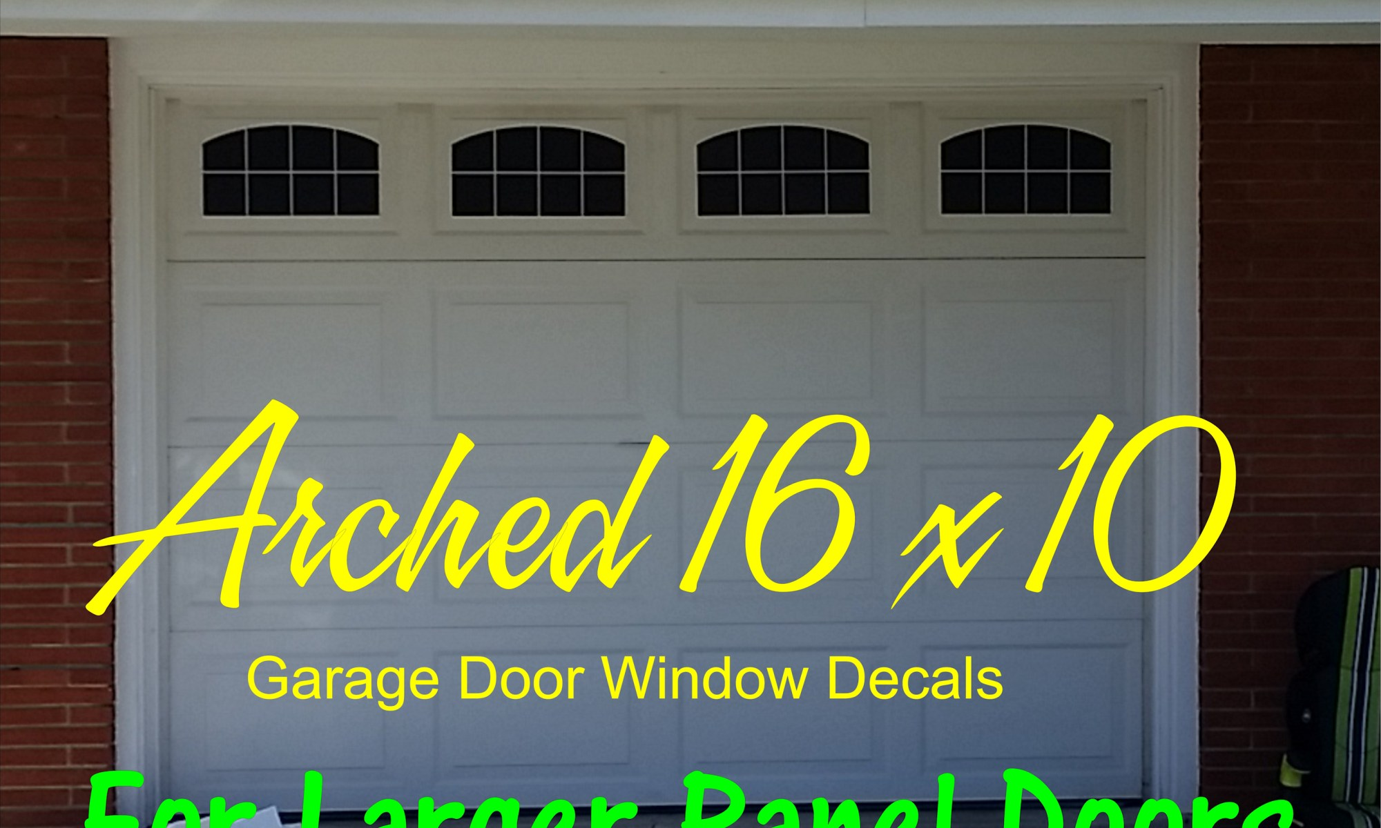 Faux Garage Door Windows Arched Style 16 X 10 Faux Window Garage Door Vinyl Decals Garage