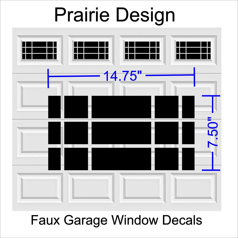 Faux Garage Door Windows Prairie Design Style Faux Window Garage Door Vinyl Decals Garage