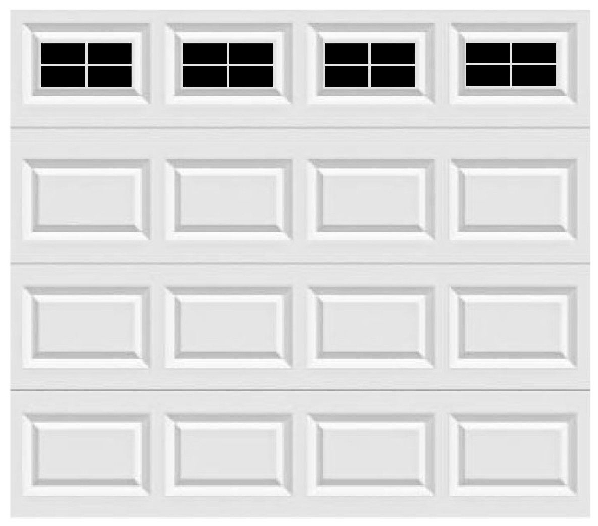 Garage Door Vinyl Window Decals: Craftsman Style Faux Window Garage Door Vinyl Decals