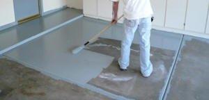 Photo of applying Garage Floor Coating