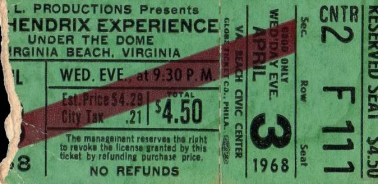 Virginia Dome Ticket