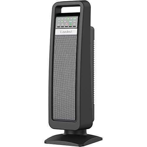 lasko ceramic space portable tower oscillating cozy heater with save smart technology