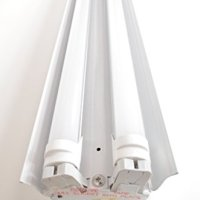 White 40W 4 Ft. Hanging Plugin Shop Light Fixture 2x LED T8 20w Tubes Replacement for (4) 32W Fluorescent Bulbs- 6500K
