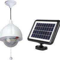 MicroSolar Super Bright - Lithium Battery - 60 LED Solar Shed Light - Power Adjustable