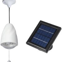 MicroSolar - High Lumen - 20 LED - Lithium Battery - Solar Shed Light  / Solar Barn Light