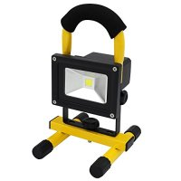 Portable Rechargeable Cordless LED Work Light Flood Light, Durable Waterproof Emergency Light Trouble Light w/ Stand for Car Traveling Camping Fishing, 6000K Daylight 400-450LM, Waterproof - RWL-01