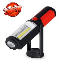 Kootek® Portable Hands-free COB LED Work Light Flashlight with Adjusting Stand, Hanging Hook and Magnet Base for Garage, Shed, Emergencies, Camping, Construction, Workshop, Home Security and Other Indoor & Outdoor Activity